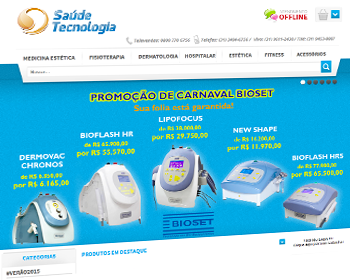 Saude e Tech, cliente do sistema de loja virtual 001SHOP