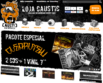 Caustic, cliente do sistema de loja virtual 001SHOP