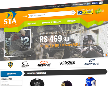 Sta Sports, cliente do sistema de loja virtual 001SHOP